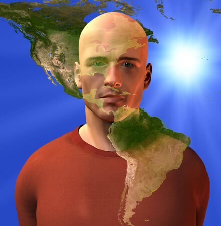 continente americano: Continente Americano y el hombre
