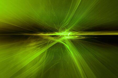 Green Horizon of light  Stok Fotoğraf