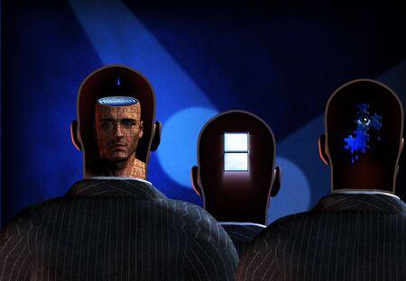 Men reveal mind photo