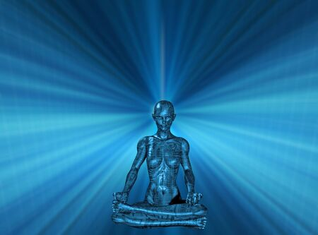 Mind Power Technology Human Meditate photo