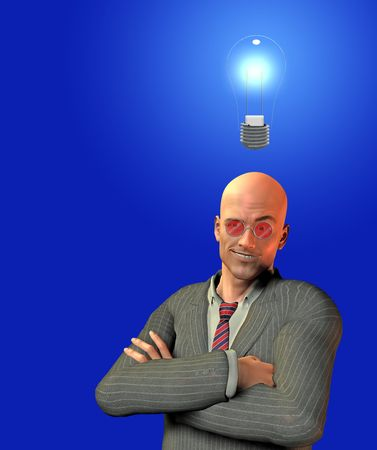 Man with smirk and idea Stock Photo - 5200810