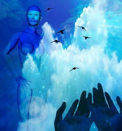 mind body soul: Hands and Sky