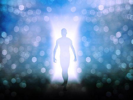 doorway: Figure in door way of light