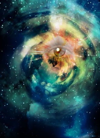 entity: Eye in Space Stock Photo