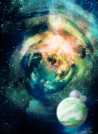 Space with planets Stock Photo - 5548376