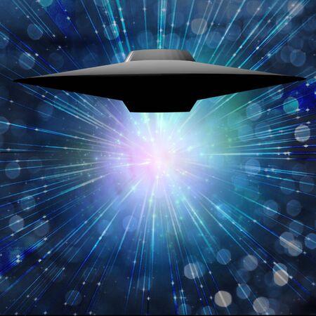 aeronautical: Alien Craft Stock Photo