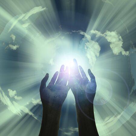 reveal: Hands reveal light