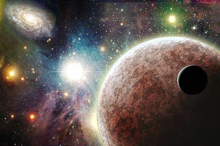 Planeten in de ruimte