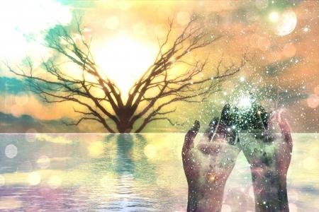 Spirituelle Composition Standard-Bild
