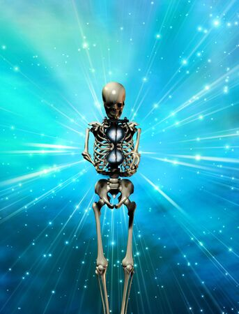 Skeltal Figure with hourglass Stock Photo - 5728115