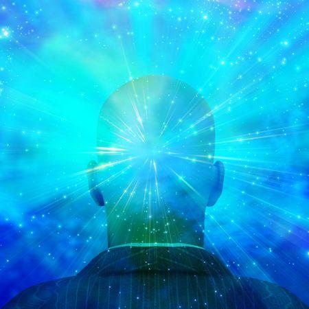perceptie: Geest van licht Stockfoto