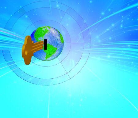key hole: Earth Key