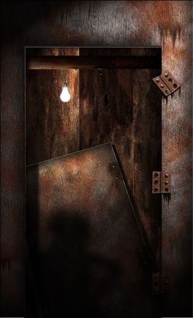 Grungy gammele Doorway Stockfoto