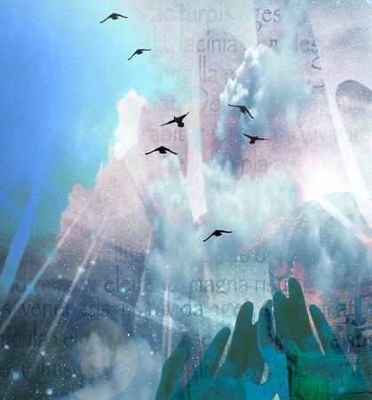 alabando a dios: Manos y Sky