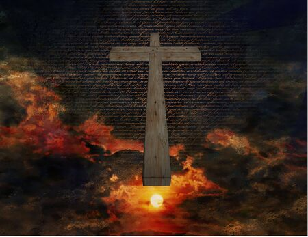 object oppression: Cross in Sky Stock Photo