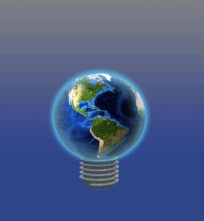 Light Bulb Earth Stock Photo - 5947347