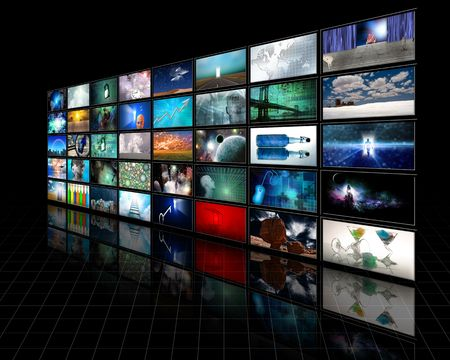 broadcasting: Video Display Stock Photo