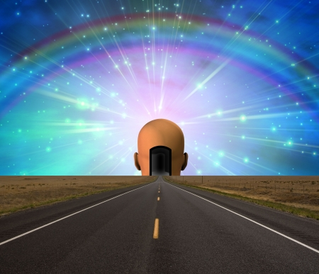 open road: Road to enlightenment