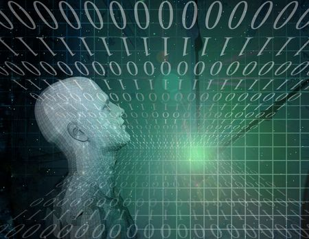 Binary Abstract with Figure Stock Photo - 6003314