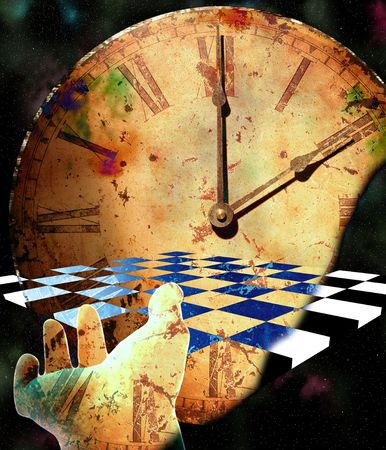 Checkerboard Time Composition Stock Photo - 6003347