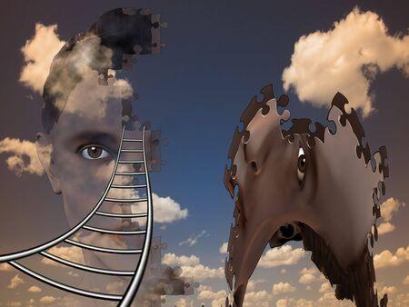 Surreal Human Composition photo