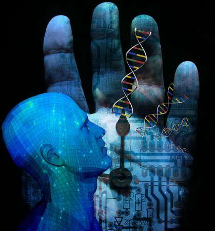 ADN de machine Banque d'images - 6076354