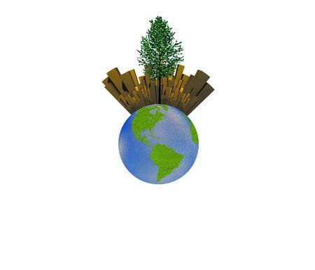 Earth City and Tree photo