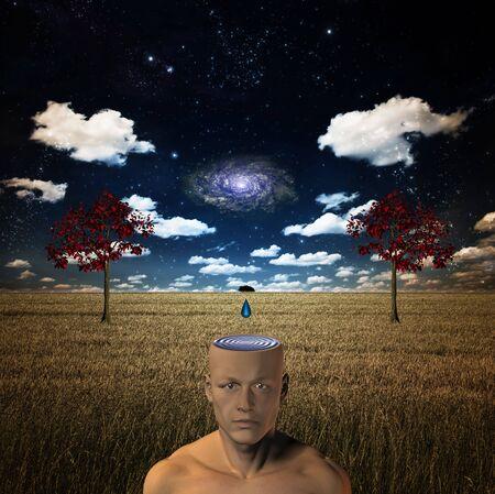 subconscious: Galactic Mind Stock Photo