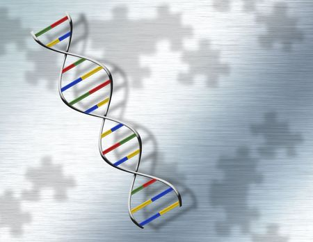 Puzzle DNA on Steel Stock Photo - 6112643