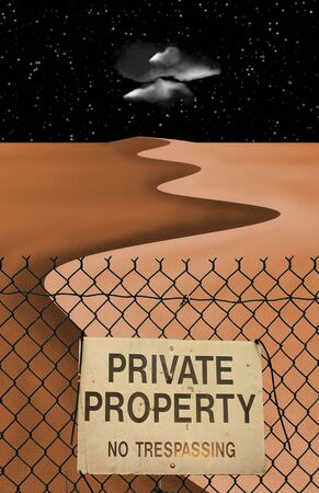 exclude: Private Property Desert