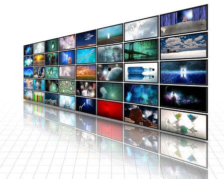 computer net: Video Display Stock Photo