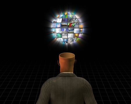com: Open Mind and video sphere Stock Photo