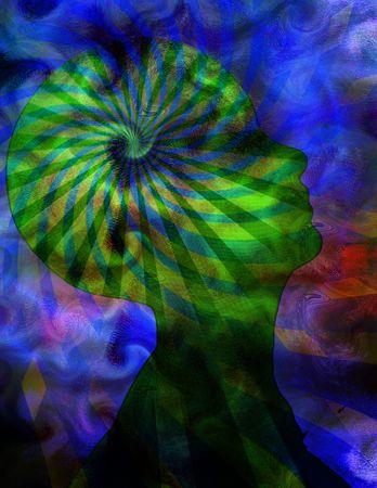 psique: Poder de la mente  Foto de archivo