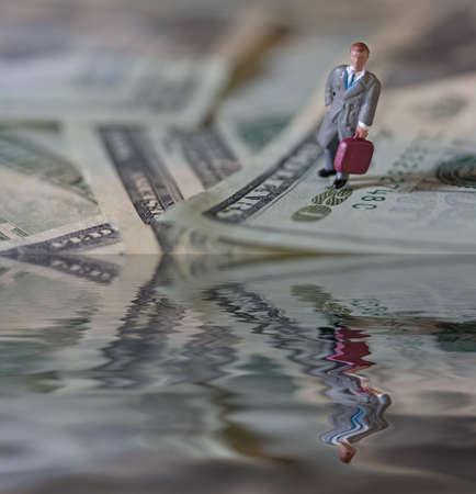 Businessman money photo
