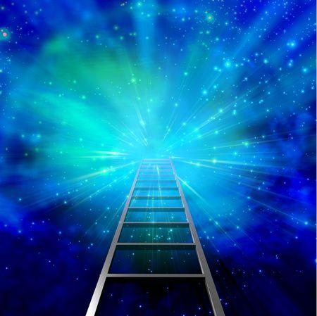 Ladder in burst  Stockfoto