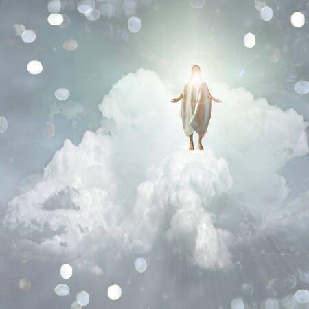 jesus clouds: Spiritual Light