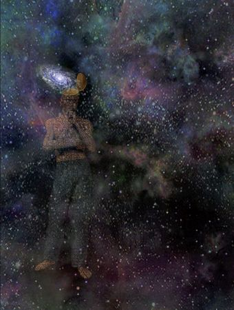 Man with galaxy mind Stock Photo - 6379005