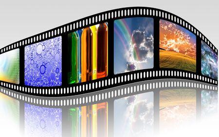 filmroll: FIlm Strip Stock Photo