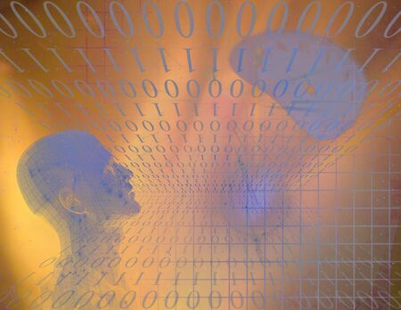 Binary Abstract with Figure photo