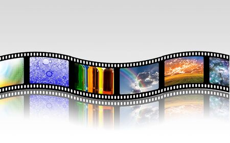 cinema screen: FIlm Strip Stock Photo