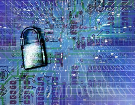 electronic security: Electronic Security Stock Photo