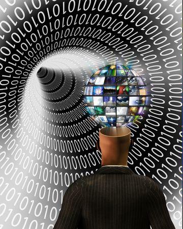 vorschlag: Viewer und Video Kugel mit binären tunnel