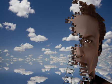 Puzzle piece man