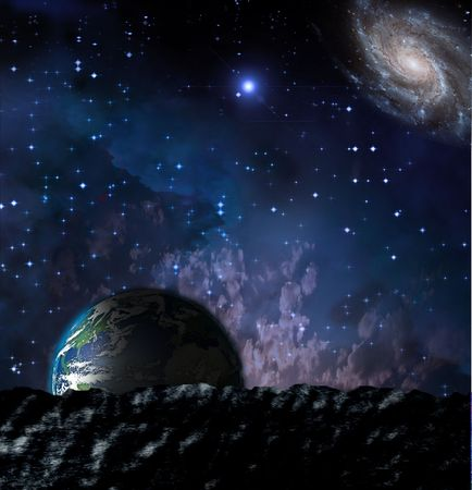 paisaje lunar: Tierra de paisaje lunar