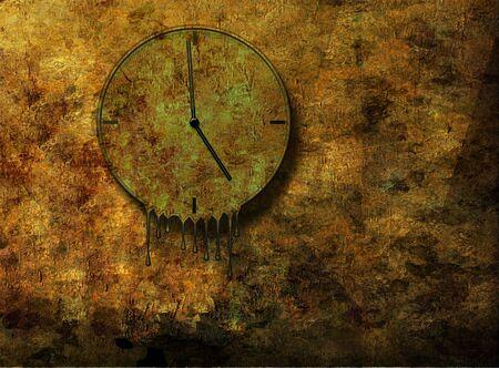 Melting  Grunge Clock photo