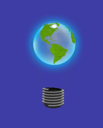 Earth Bulb Stock Photo - 6720234