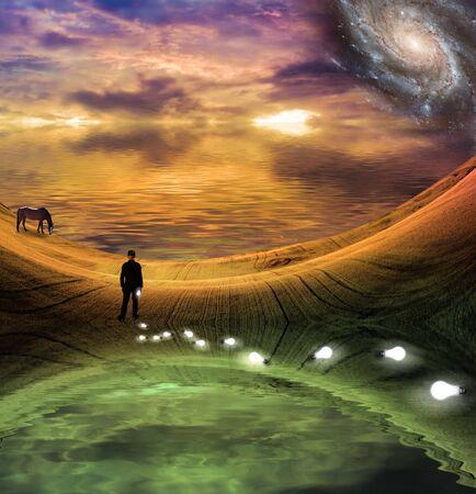 psyche: Lago de misterio  Foto de archivo