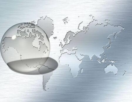 Glass sphere focus on North America photo