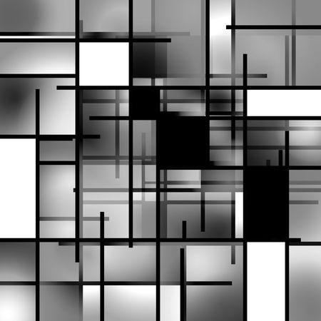 objetos cuadrados: Black and White Rectangular composici�n de fondo de arte moderno