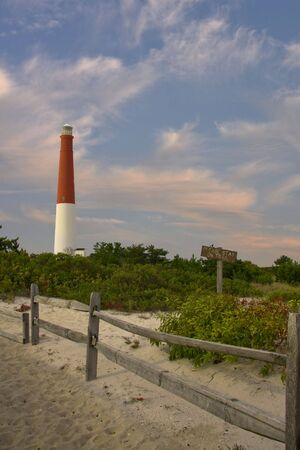 island: Long Beach Island New Jersey Light house Stock Photo